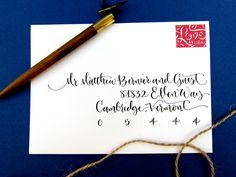 Hand Calligraphy Envelope Addressing Style Elle by AngeliqueInk. $2.75, via Etsy.
