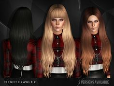 Hairstyle 28 by Nightcrawler by The Sims Resource - Sims 3 Hairs Sims 3 Mods, Sims 2, Best Sims, Sims Hair, Sims Resource, Sims 4 Custom Content, Genetics, Aurora Sleeping Beauty, Long Hair Styles