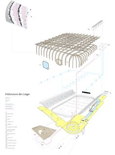 Axonometric Diagram of an ice rink
