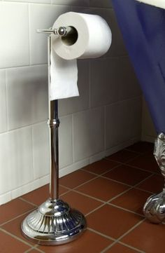 Victorian Free Standing Toilet Roll Holder Bright Chrome - Floor Standing Toilet Roll Holders - Toilet Roll Holders - Bathroom - Home Furnishings - Catalogue | Black Country Metal Works