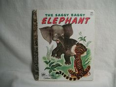 The Saggy Baggy Elephant  VIntage 1980 Childrens by TKSPRINGTHINGS, $10.95