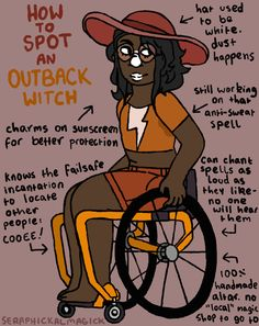 How to Spot an Outback Witch! You will find today's witch casting spells in a land down under. They are also a witch with a cause- Currently, remote Indigenous communities in Australia are under threat of closure. You can check out this facebook page...