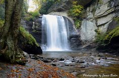 Photo by James Beeler, taken on a beautiful autumn morning at Looking Glass Falls near Milepost 412 on the Blue Ridge Parkway in North Carolina.