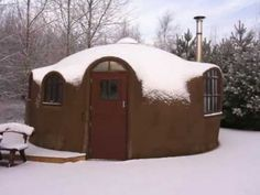 ▶ The Dingley Dell Eco Dome after the snow 2009 - YouTube