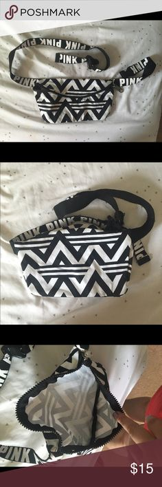 Pink Fanny Pack Cute black and white fanny pack from Pink PINK Victoria's Secret Bags