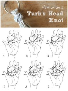 How to tie a decorative Turk's head knot.