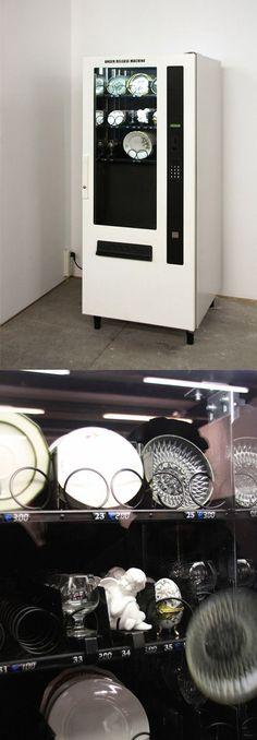 Máquina expendedora de porcelana china.