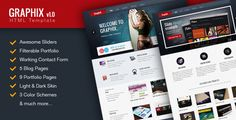 Download Nulled Graphix HTML Template For Free