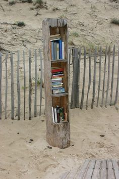 La bibliothèque de plage !