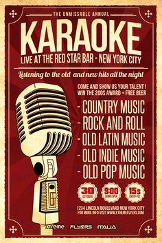 16 best karaoke flyer template images karaoke flyer template