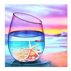 DIY Diamond Painting Summer Scenery in Glass Mosaic Cross Stitch Full Square Drill Diamond Painting kit Home Decoration Gifts Glass Photography, Creative Photography, Travel Photography, Stained Glass Art, Mosaic Glass, Mosaic Art, Wallpaper Pastel, Trendy Wallpaper, Mosaic Crosses