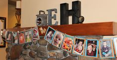 A Year in the Life of Easton.  Banner made from a photo from each month of his first year. - Robot Birthday Party