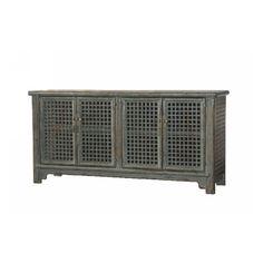 Lattice Sideboard 4 Dr- Nanking Green  W:74.5 D:20 H:36 PRICE: $989.00
