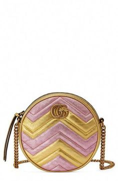 8709fc78c64 New Gucci Marmont 2.0 Mini Leather Circle Crossbody Bag. Women s Fashion  Handbags   1500