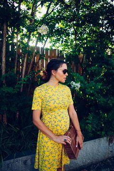 yellow dress | pregn
