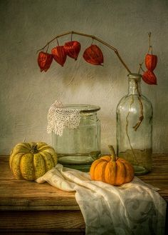 Still life with Physalis and Pumpkin by Mandy Disher Dark Photography, Still Life Photography, Abstract Photography, Animal Photography, Landscape Photography, Travel Photography, Fashion Photography, Wedding Photography, Painting Still Life