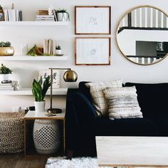 Updating your living room on a budget! | Tips and Tricks for budget decorating | Midcentury modern living room