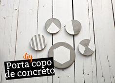 DIY Porta copo de concreto