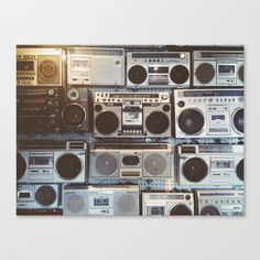 """""""Boom boxes"""" Canvas Print by Jane And Jane on Society6."""