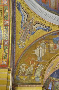 Cathedral Basilica of Saint Louis, in Saint Louis, Missouri, USA - mosaic of angel under dome 1 by msabeln, via Flickr