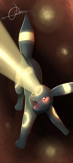 Shine upon them! The moonlight has arrived! by VulcanusKnight.deviantart.com on @deviantART (Umbreon)