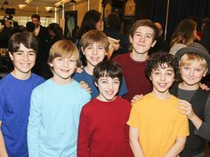 FINDING NEVERLAND kids Aidan Gemme, Christopher Paul Richards, Jackson DeMott Hill, Noah Hinsdale, Sawyer Nunes, Alex Dreier and Hayden Signoretti