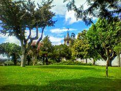 Apepece rebolar nesta relva tão verdinha :D O Jardim dos Centenários em Arcos de #Valdevez com a igreja do Esoírito Santo em fundo - http://ift.tt/1MZR1pw -