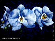 Картина панно рисунок Рисование и живопись Цветы - Сухое валяние шерсти Шерсть