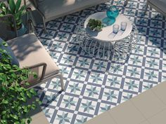 Hanoi Star Blue Floor Tiles from Tile Mountain only per tile or per sqm. Order a free cut sample, dispatched today - receive your tiles tomorrow Balcony Tiles, Patio Tiles, Outdoor Tiles, Outdoor Flooring, Outdoor Patterned Tiles, Patio Slabs, Conservatory Flooring, Balcony Flooring, Flooring Tiles