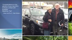Dear Brian And Pru Cooney   A heartfelt thank you for the purchase of your new Subaru from all of us at Premier Subaru.   We're proud to have you as part of the Subaru Family.