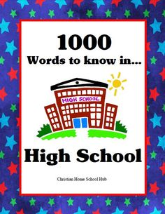 1000 Words to know in High School -- This is a fantastic resource for High School students. Each word is defined, used in a sentence, and the part of speech is defined.  #homeschool #vocabulary