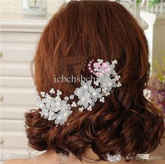 Bride Wedding Hairpins White Floral With Pearl 2014 New Arrival 0530B7 Online with $1.05/Piece on Icbchsbchsb's Store | DHgate.com