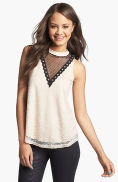 Lovely lace print top. The Lush Mock Neck Lace Tank (Juniors) available at #Nordstrom  #nsale