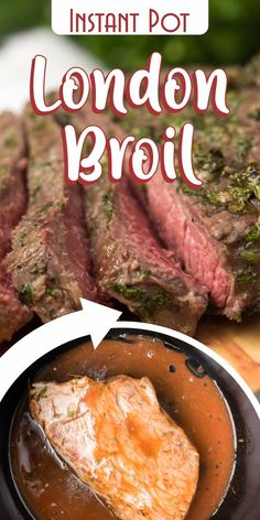 A yummy, tender and a juicy meal that keeps you full and happy.     Amazing pressure cooker recipe for Christmas or any special occasion. Have guests for dinner? Make this pressure cooker London broil!    For this recipe, we are using the Instant Pot instead of the broiler. But don't worry, the taste is the same and even better!