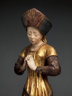 Mourning Woman, ca. 1480, South Netherlandish; Walnut, polychromy and gilding | The Metropolitan Museum of Art