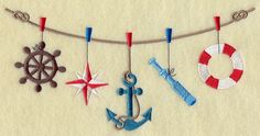 Machine Embroidery Designs at Embroidery Library! - Nautical ...