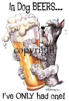 Schnauzer Dog Beers