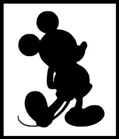 Child Size Disney Inspired Mickey Mouse Silhouette Iron on Vinyl Design on Etsy, $6.99