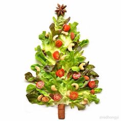 Vege Christmas tree