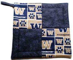 University of Washington/ Huskies Pot Holder by KelleenKreations, $5.00