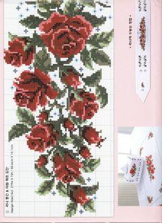 Cross Stitch Pillow, Cute Cross Stitch, Cross Stitch Rose, Cross Stitch Flowers, Cross Stitch Charts, Cross Stitch Patterns, Cross Stitching, Cross Stitch Embroidery, Embroidery Tattoo