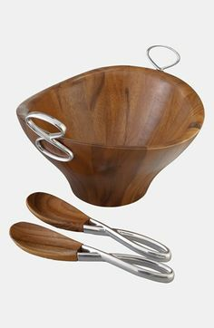 Nambé 'Infinity' Salad Bowl Servers available at #Nordstrom