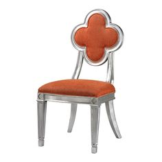 Petal Back Dining Chair In Orange 136-009