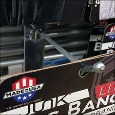 Junk High Performance Headband Hook – Fixtures Close Up Retail Merchandising, Bandana, Fabric, Cards, Bandanas, Tejido, Tela, Retail, Retail Boutique