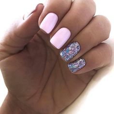 Pink gel nails, acrylic short square nails design for summer nails, frenc. Short Square Acrylic Nails, Short Square Nails, Nails Short, Cute Nails, Pretty Nails, My Nails, Square Nail Designs, Short Nail Designs, Pink Gel