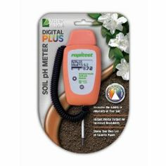 Luster Leaf 1847 Rapitest Digital PLUS Soil pH Meter by Luster Leaf. $20.20. Easy to read digital output. Product specifically designed to be used only in soil. Instantly measures pH level. Includes built-in electronic plant database with ability to build favorites list. Auto off feature. Measure soil pH accurately and digitally with this meter. Display offers instant digital read-out, and detachable stainless steel probe checks soil pH at root level. Take the guessw...