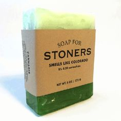 $9.95 - Soap for Stoners 170g / 6oz - Smells like Colorado. It's 4:20 somewhere.