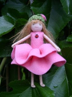 Small Waldorf Bendy Doll  Rose Girl by Enchanted Forest.