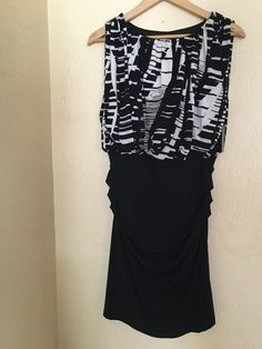 Dress by Valerie Bertinelli brand new with tags size 10 women's  black and white #valeriebertinelli
