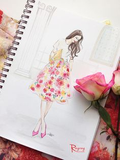Fashion illustration, Rongrong DeVoe   Collaborate with brands as a fashion illustrator